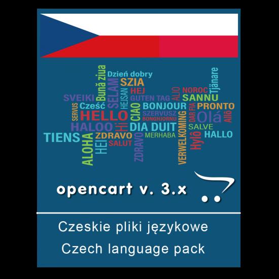 Czeskie pliki językowe - OpenCart v. 3.x