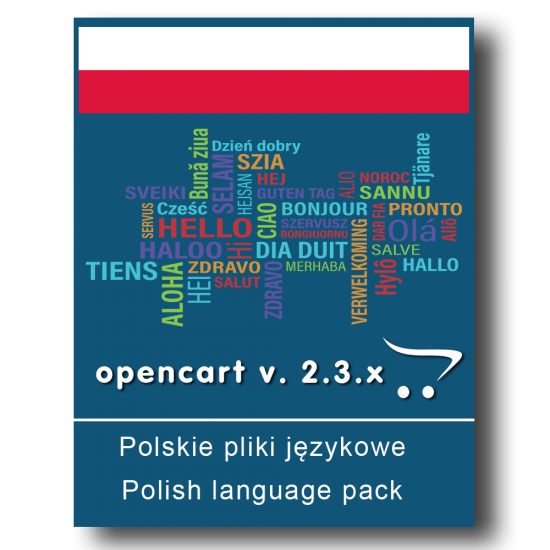 Polskie pliki językowe - OpenCart v. 2.3.x