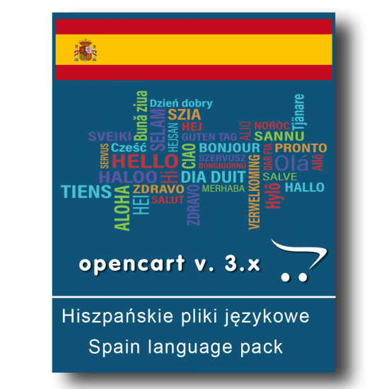 Hiszpańskie pliki językowe - OpenCart v. 3.x