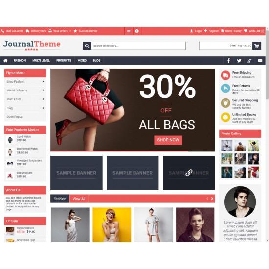 OpenCart PL v. 2.3.0.2 GOLD 10 - Gotowy sklep internetowy z wbudowanym blogiem