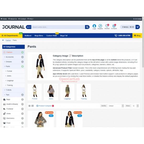 OpenCart PL 331 GOLD - Gotowy sklep internetowy z wbudowanym blogiem