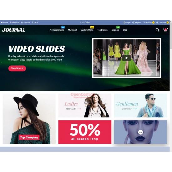 OpenCart PL 332 GOLD - Gotowy sklep internetowy z wbudowanym blogiem