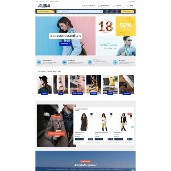 OpenCart PL 333 GOLD - Gotowy sklep internetowy z wbudowanym blogiem