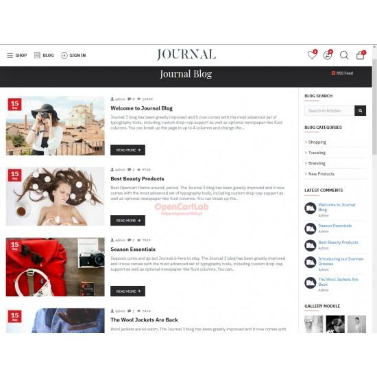 OpenCart PL 334 GOLD - Gotowy sklep internetowy z wbudowanym blogiem