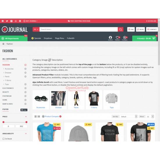 OpenCart PL 335 GOLD - Gotowy sklep internetowy z wbudowanym blogiem