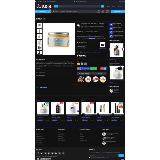 OpenCart PL 335-dark GOLD - Gotowy sklep internetowy z wbudowanym blogiem