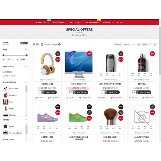 OpenCart PL 337 GOLD - Gotowy sklep internetowy z wbudowanym blogiem